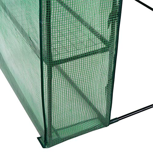 Mini Walk-in Greenhouse Indoor Outdoor -2 Tier 8 Shelves- Portable Plant Gardening Greenhouse (57''L x 57''W x 77''H), Grow Seeds & Seedlings, Herbs Flowers or Tend Potted Plants by Nova Microdermabrasion (Image #6)