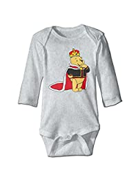 Winnie The Pooh Baby Boy's & Girl's Bodysuit Climbing Clothes (0-24 Months)