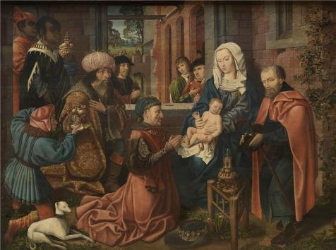 Oil Painting 'Master Of Frankfurt - Epiphany Triptych Middle Panel, 16th Century' 8 x 11 inch / 20 x 27 cm , on High Definition HD canvas prints is for Gifts And Garage, Nursery And Study Room decor