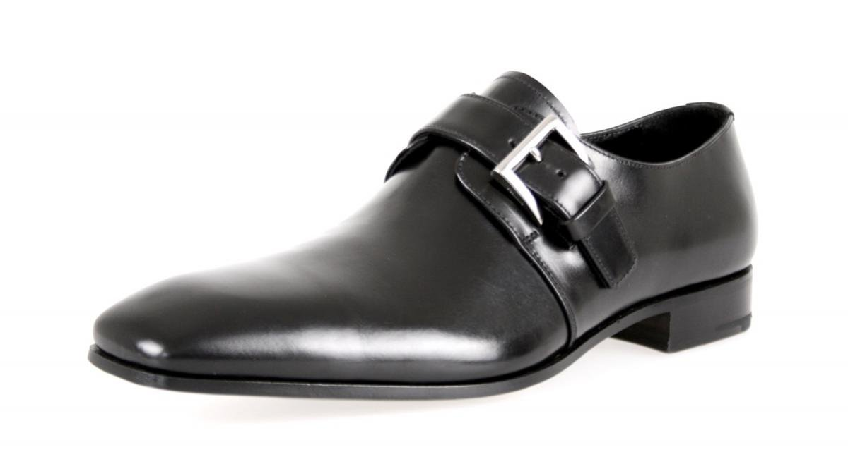 Prada Men's 2OA011 Black Leather Business Shoes EU 9.5 (43,5) / US 10.5 by Prada (Image #1)