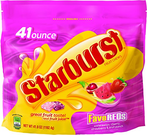 Starburst FaveReds Fruit Chews Candy Bag, 2lbs -