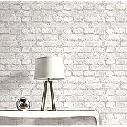 Realistic Brick Wallpaper (Grey and White)
