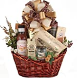 The Hearty Selection Men's Meat and Cheese Deluxe Gift Basket for Him | Birthday Gift or Thank You Gift for Him