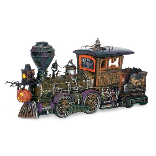 Department 56 Snow Village Halloween Haunted Rails Engine Accessory Figurine (Village Accessory Snow 56)