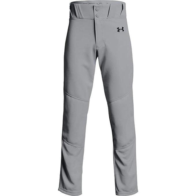 d2553579c Under Armour Boys Utility Relaxed Baseball Pant, Baseball Gray (080)/Black,