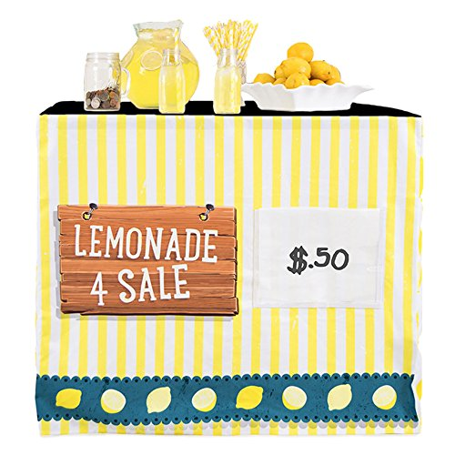 HIDEABOO - Lil' Biz Polyester Easy Lemonade Stand Card Table Cover]()