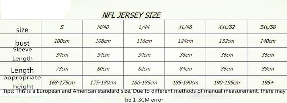 LLXLJ Jersey de Rugby Hombres Chiefs87# 10# 15# Mahomes legendaria Camiseta Bordada,4,S