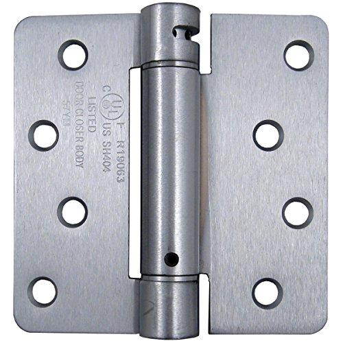 Stone Harbor Hardware, Adjustable Spring Hinge (4-inch by 1/4-inch Radius, Satin Chrome) by Stone Harbor Hardware