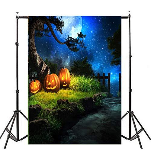 Sunshinehomely Halloween Backdrops for Photography 3x5ft Vinyl Pumpkin Photo Backdrops Background Studio Props -