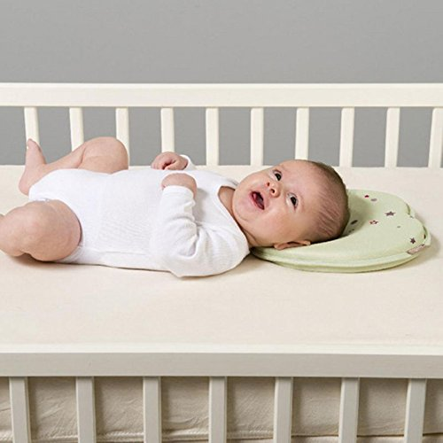 Infant Pillow - Prevent Flat Head Memory Foam Cushion Sleeping Support UK PlatiniumTech