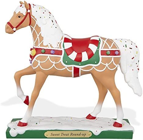 The Trail of Painted Ponies Sweet Treat Round Up Christmas Pony Horse Figurine
