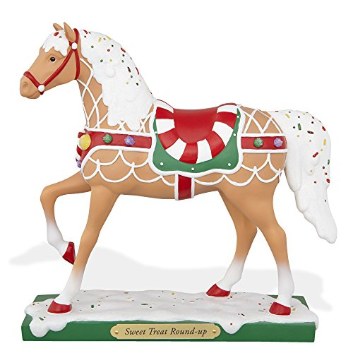 The Trail of Painted Ponies Sweet Treat Round Up Christmas Pony Horse Figurine ()