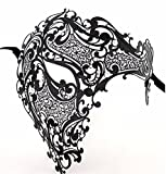 Face mask Shield Veil Guard Screen Domino False Front Party Golden Metal Drills Makeup Dance one-Eyed mask Men and Women Metal Wrought Iron mask Black White Diamond