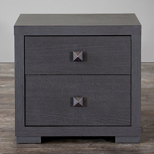 Baxton studio marco contemporary 2 drawer nightstand - Espresso brown bedroom furniture ...