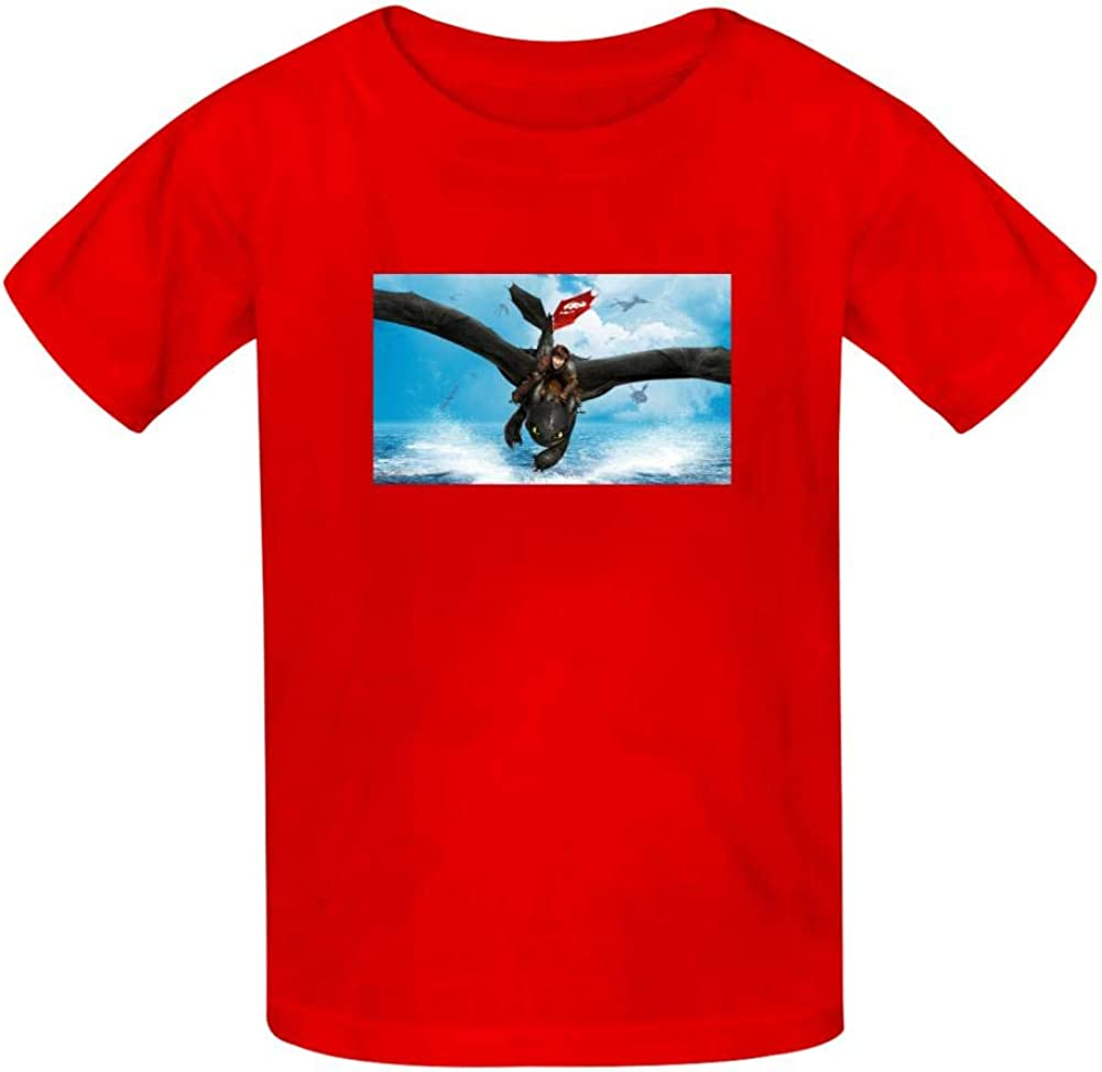 Swag How to Train Your Dragon Cute and Funny Classic T-Shirt for Kids Red