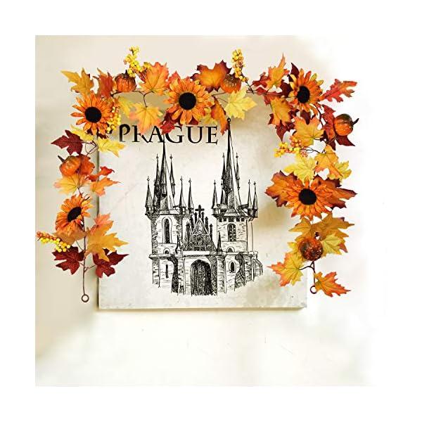 Sunm-boutique-6-feet-Artificial-Maple-Leaf-Berries-Sunflower-Pumpkin-Garland-Hanging-Vine-Decoration-Autumn-Fall-Wedding-Party-Thanksgiving-Home-Decor