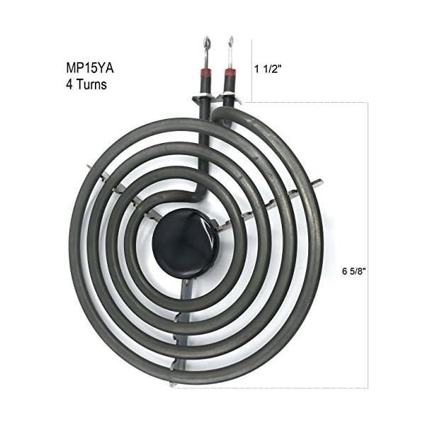 """Cooking Appliances MP22YA Electric Range Burner Element Unit Set 2- MP15YA 6.5"""" 2- MP21YA 8"""" 5"""