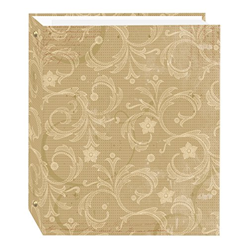 Magnetic Self-Stick 3-Ring Photo Album 100 Pages (50 Sheets), Jasmine Design Design Photo