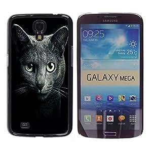 - Black Cat Kitty - - Fashion Dream Catcher Design Hard Plastic Protective Case Cover FOR Samsung Galaxy Mega 6.3 Retro Candy