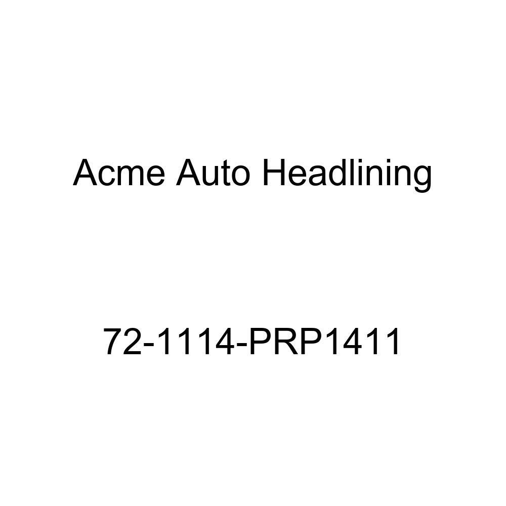 Acme Auto Headlining 72-1114-PRP1411 Maroon Replacement Headliner 5 Bow 1972 Buick Lesabre 4 Door Hardtop