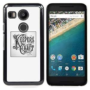 - Keepers Craft Poster Handicraft Diy/ Duro Snap en el tel????fono celular de la cubierta - Cao - For LG Google Nexus 5X