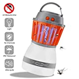 Texsens Bug Zapper & Camping Lantern IP67 Rainproof 2-in-1 Cordless Mosquito Killer Lamp Rechargeable & Portable for Indoor/Outdoors & Emergencies
