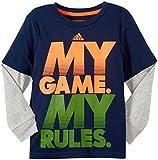 Adidas Little Boys My Game Tee (Toddler/Kid) - Navy - 4T