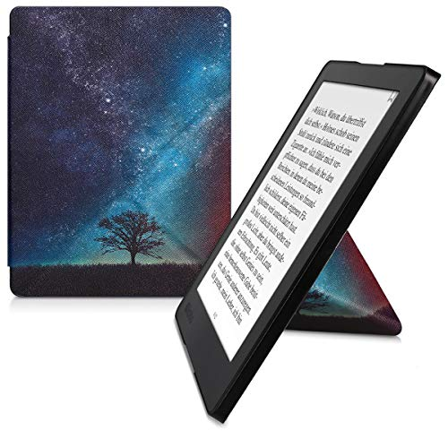 kwmobile Origami Case Compatible with Kobo Aura H2O Edition 2 - Slim Premium PU Leather Cover with Stand - Cosmic Nature…