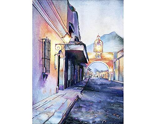 Arch of Santa Catalina in the UNESCO World Heritage city of Antigua, Guatemala (print0