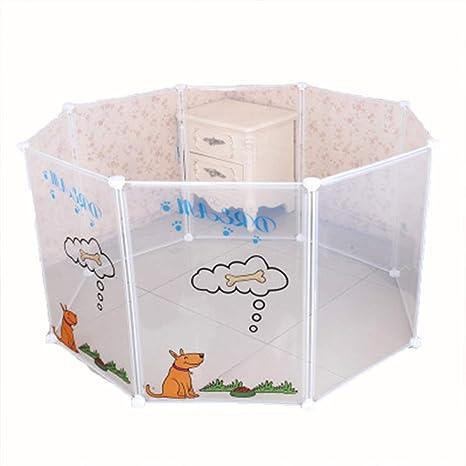 LYKH DIY Valla para Mascotas 8 combinación Plegable Jaula de Perro ...