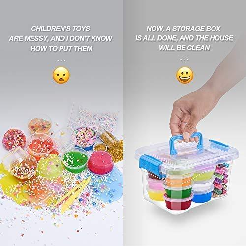 MOOHAM DIY Slime Kit Supplies - Clear Crystal Slime Making Kit for Girls, Floam Slime for Kids, Slime Foam Beads, Glitter , Fruit Slices and Fishbowl Beads Included by M MOOHAM (Image #4)
