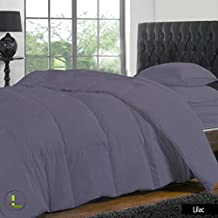 Relaxare Queen XL 800TC Lilac Solid High Quality 4PCs Duvet Set Fitted Sheet Solid (Pocket Size: 23 inches)