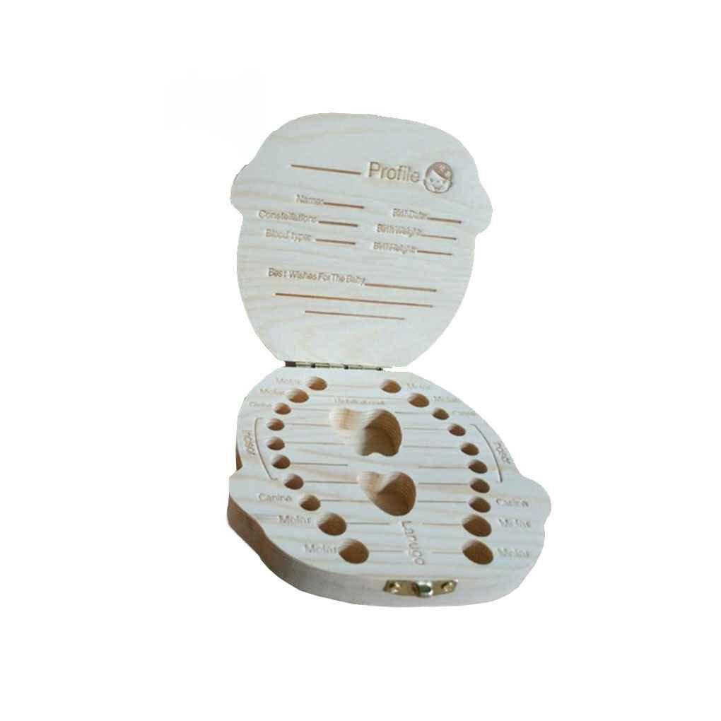LUFA Baby Tooth Box Organizer Baby Milk Teeth Save Wood Storage Box Boy Girl English Chinese with Retail Box