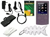 TPA- Premium Sony Walkman Accessories Combo Bundle Pack: Pink Durable Flexible Soft Silicone Skin Case, Car Charger, Wall / Travel / AC Adapter Charger, 2in1 Sync USB Cable, Adjustable Armband, Belt Clip, Fishbone Style Keychain and a Screen Protector / G