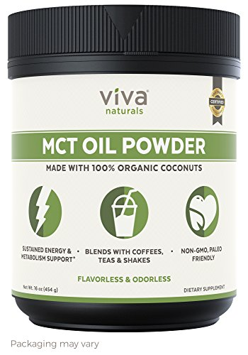 Viva Naturals MCT Oil Powder (16 oz) - Mct Oil Diet