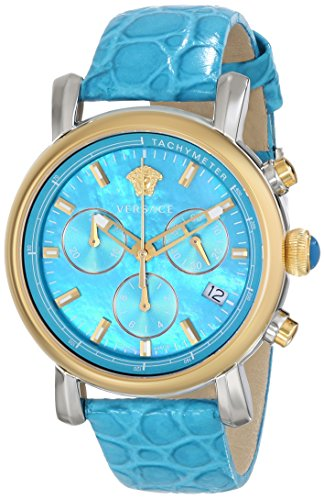 Versace-Womens-VLB040014-Day-Glam-Analog-Display-Swiss-Quartz-Turqoise-Watch