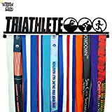 Visual Elite | Triathlete | Medal Display Hanger Hand-Forged Black Metal Hanger Design For Triathlon, Running, Race, Etc. The Medal Hangers Collection
