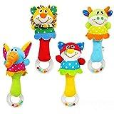Big Bazaar Bazaar Cute Baby Hand Bell Cartoon Animal Long Handbell Rattle Toy