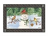 Snowman Birdfeeder Winter Doormat Cardin