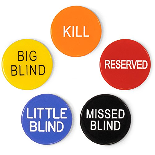 Brybelly 1'' Poker Button Combo Pack (Little, Big, Kill, Miss, Reserve)