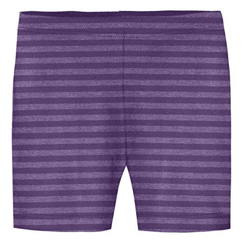 City Threads Little Girls 100% Cotton Stripe Bike Shorts for Under Skirts or Dance, Purple 3T