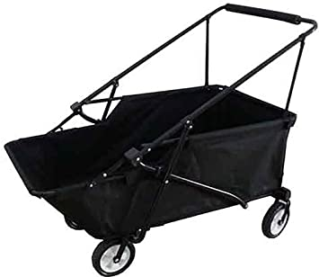Impact Canopy Momentum Folding Wagon Utility Beach Cart Collapsible Wagon  (Black)