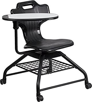 Amazoncom Flash Furniture Black Mobile Classroom Chair with