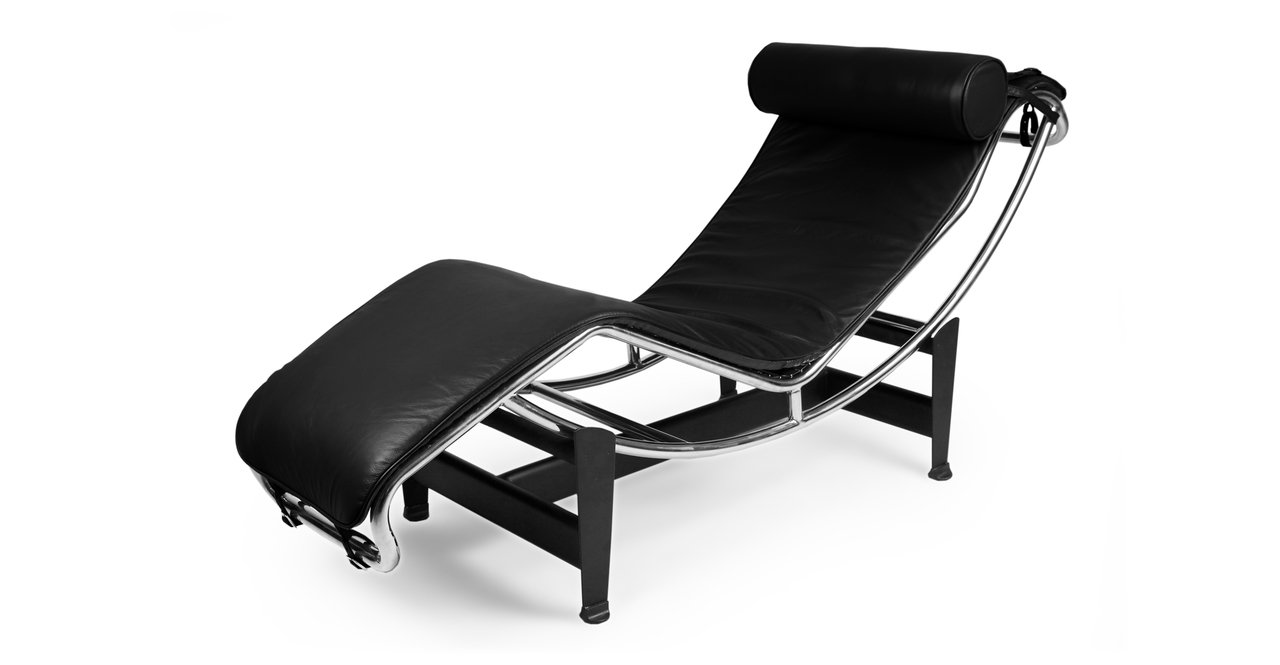 Amazon.com Kardiel Gravity Chaise Lounge Black Aniline Leather Kitchen u0026 Dining  sc 1 st  Amazon.com : chaise lounge corbusier - Sectionals, Sofas & Couches