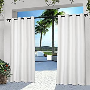 Amazon Com 2 Pieces 108 Inch White Color Gazebo Curtains