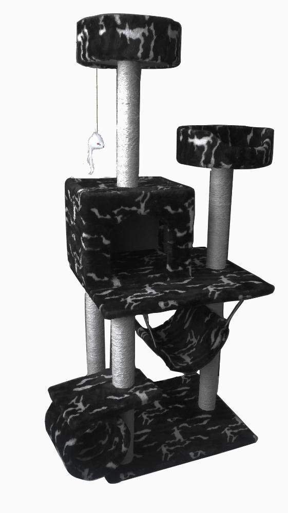 Deluxe Multi Cat Tower Cat Play Towers Environment-Friendly cat and cat Furniture Pet Supplies 58  48  136cm Plush