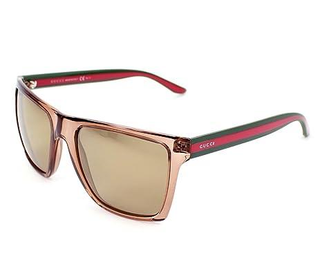 850cf5f3af8 Amazon.com  Gucci Sunglasses GG 3535  S CLQVP Acetate Brown Brown ...