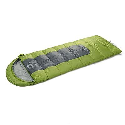 Guo Sac de couchage adulte extérieur camping élargi plus épais garder chaud sacs de couchage en coton polaire adulte grand sac de couchage intérieur