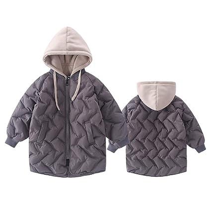 MAJIA Niños Y Niñas Abajo Chaqueta Encapuchado Espesar Abrigo, Pato De Relleno Cálido Y A Prueba