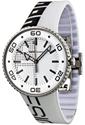 MOMO Design White and Black Dial Rubber Mens Watch 187-RB-VT-19WTBK